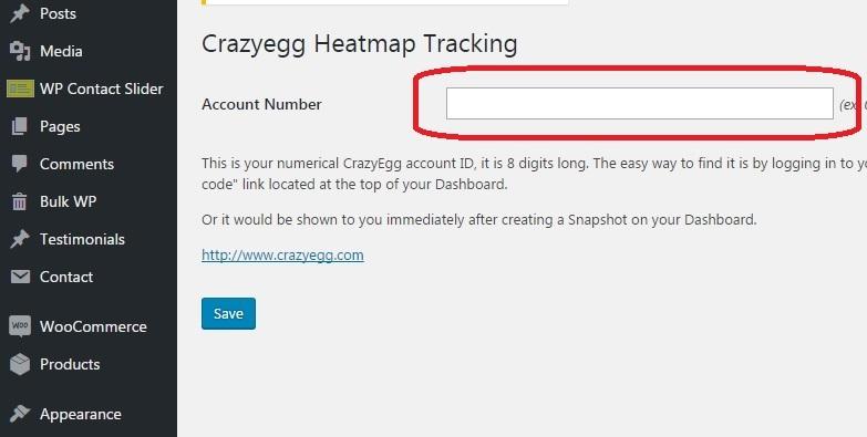 Crazyegg Heatmap Tracking