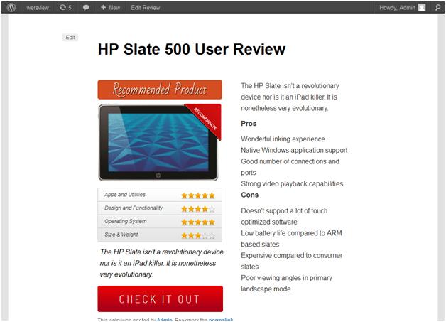 WordPress Review Site Builder