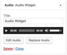 audio widget
