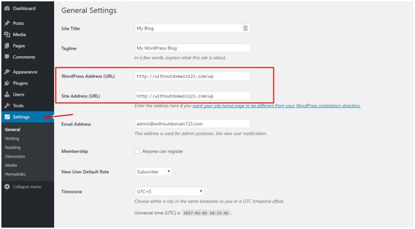 URL settings