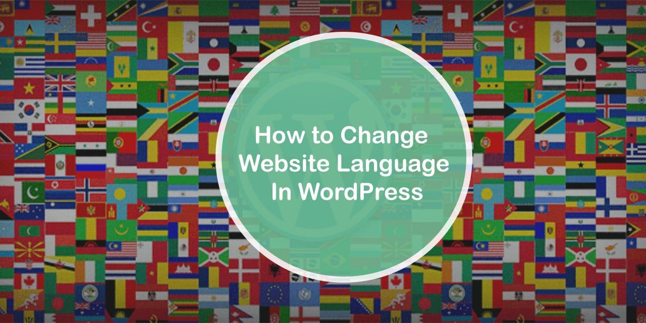 How to Change website language in WordPress