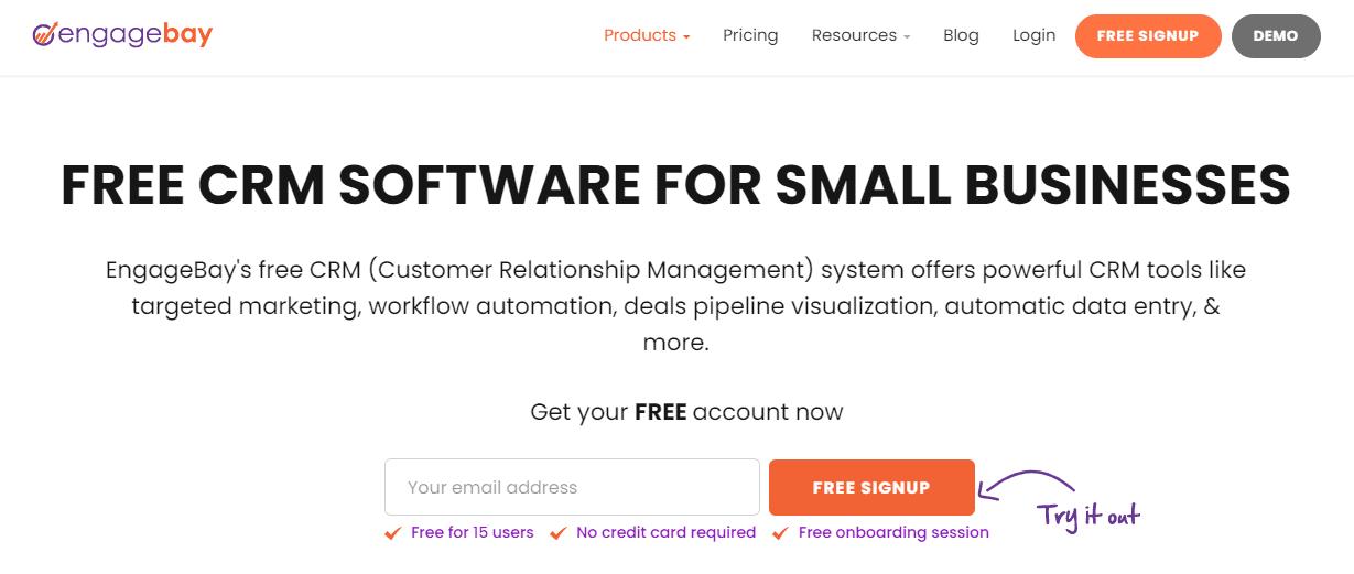 EngageBay free CRM software