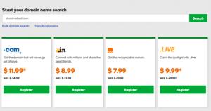 godaddy domain registration price