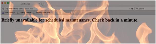 fix Briefly Unavailable for Scheduled Maintenance Error