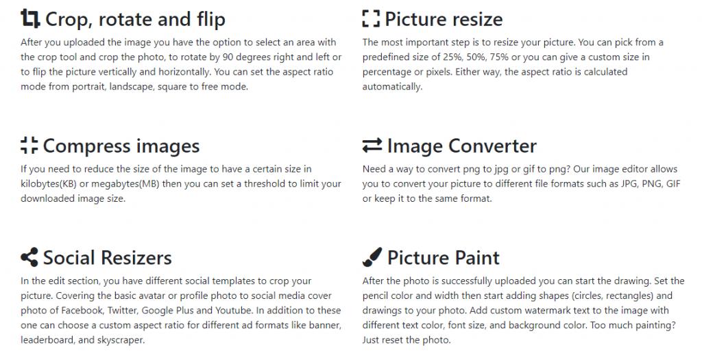 ResizeMyImg features