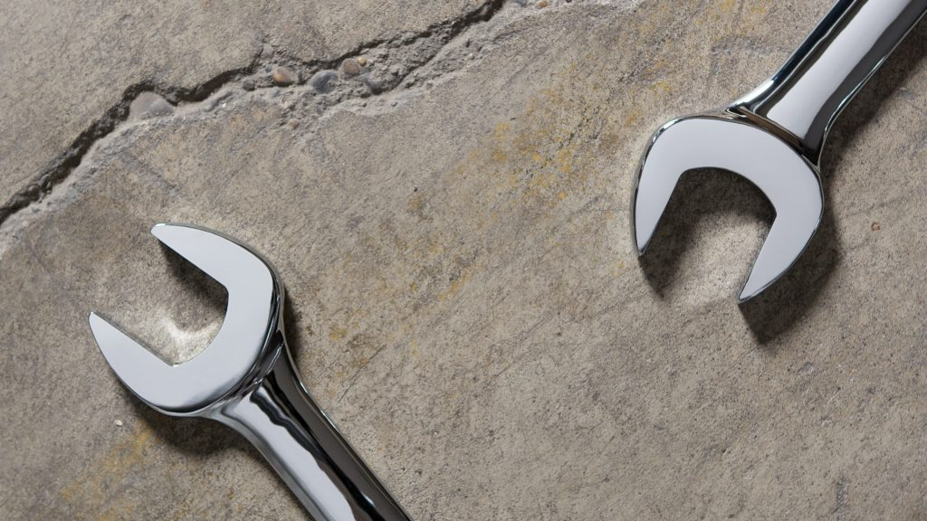 Tools on ground