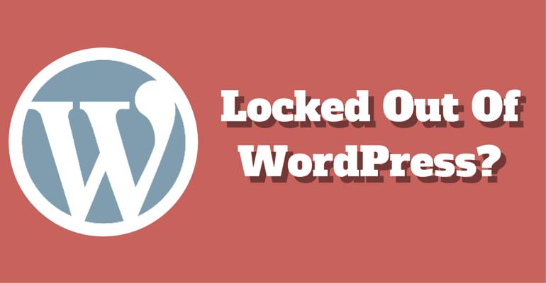 wordpress locked out admin login