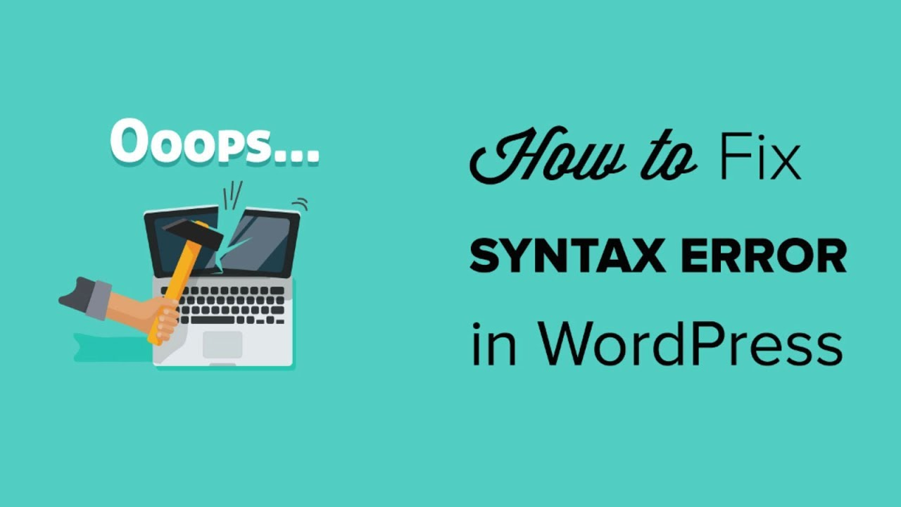 syntax error on wordpress