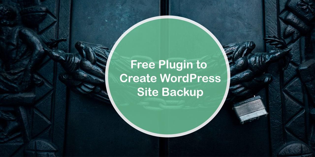 Free Plugin to backup