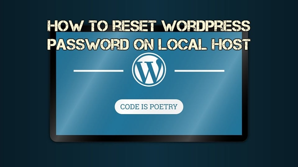 wordpress reset password