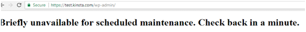 WordPress Maintenance Mode after Upgrade 1