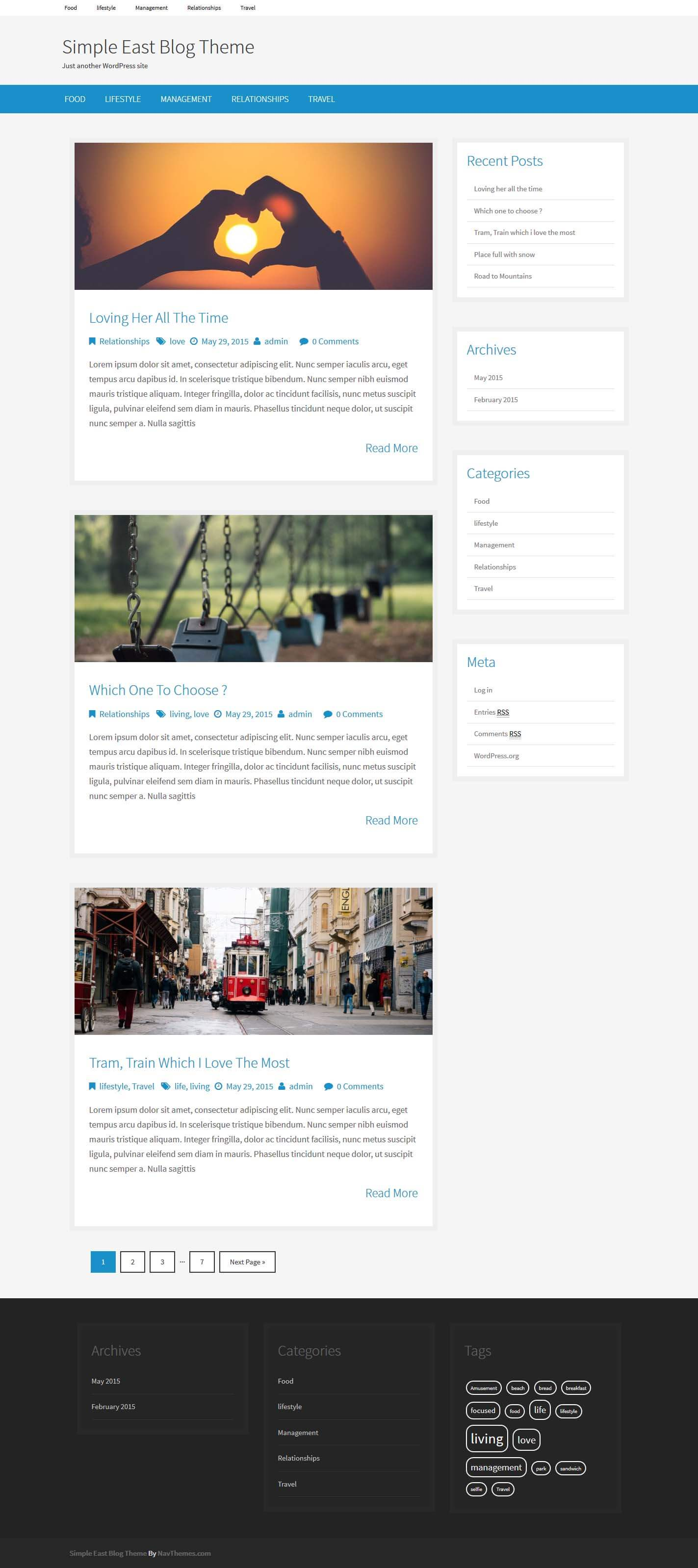Simple East Blog Theme