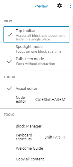 More tools and options
