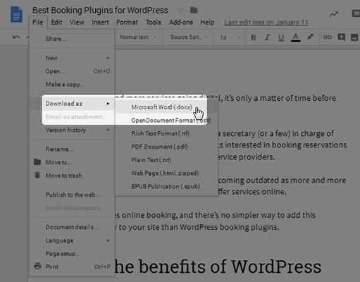 Publishing From Google Docs To Wordpress - The Definite Guide 1