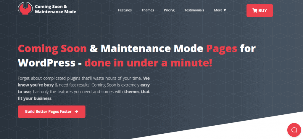 Coming Soon & Maintenance Mode