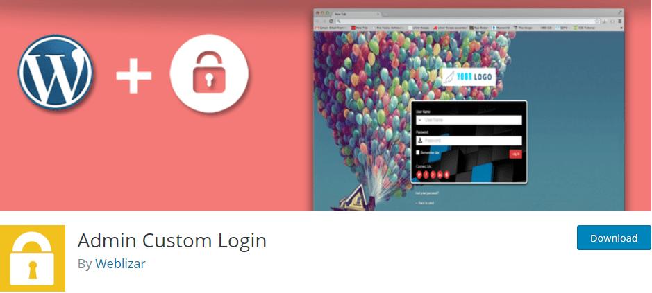 Admin Custom Login plugin