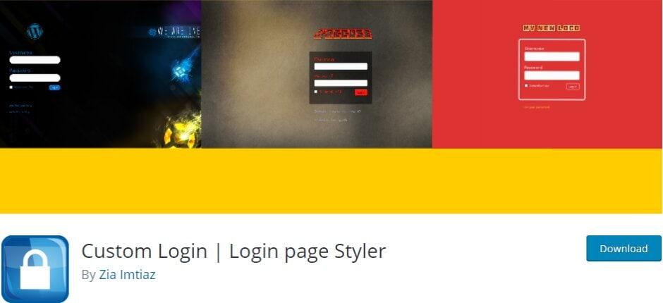 Login page styler plugin
