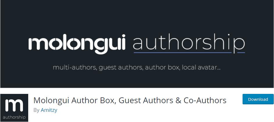 Molongui Authorship plugin