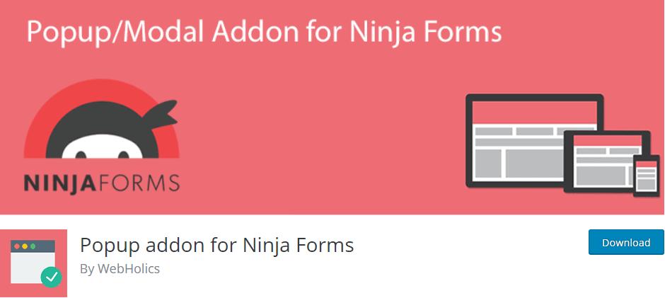 Ninja Forms Popup Addon