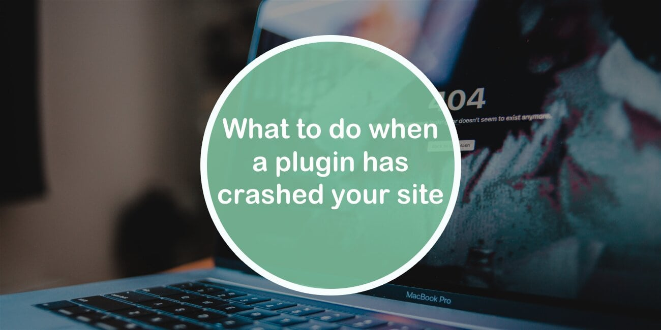 What to do when a plugin crashes your site