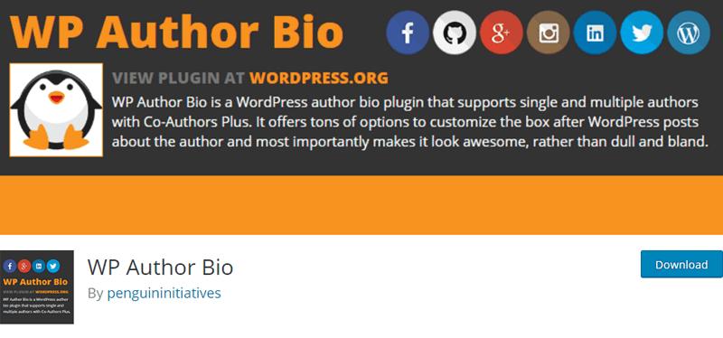 WP Author Bio plugin