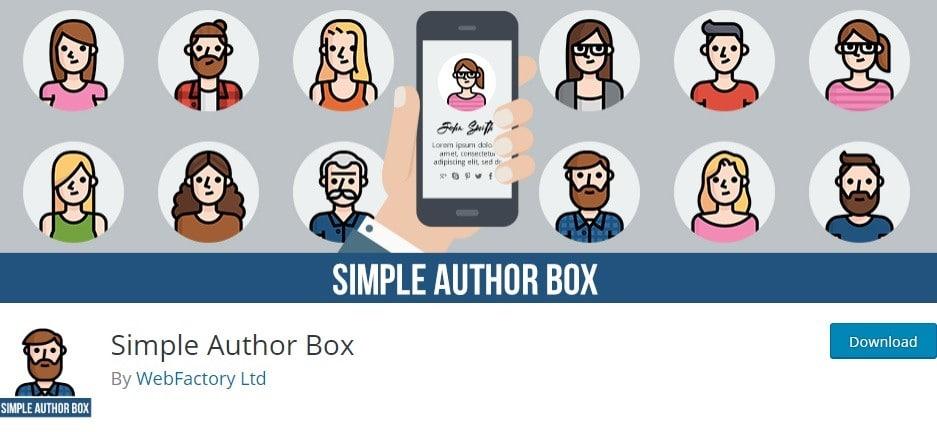 Simple Author Box free version