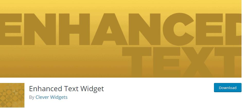 Enhanced Text Widget
