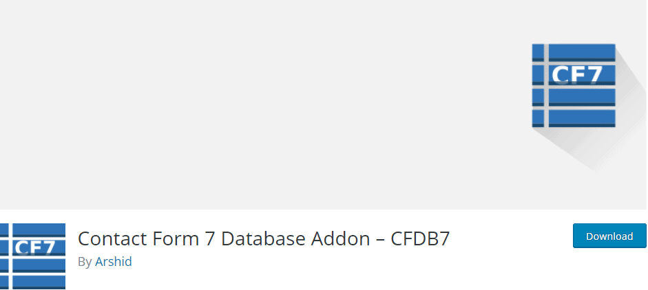 Contact Form 7 Database Addon