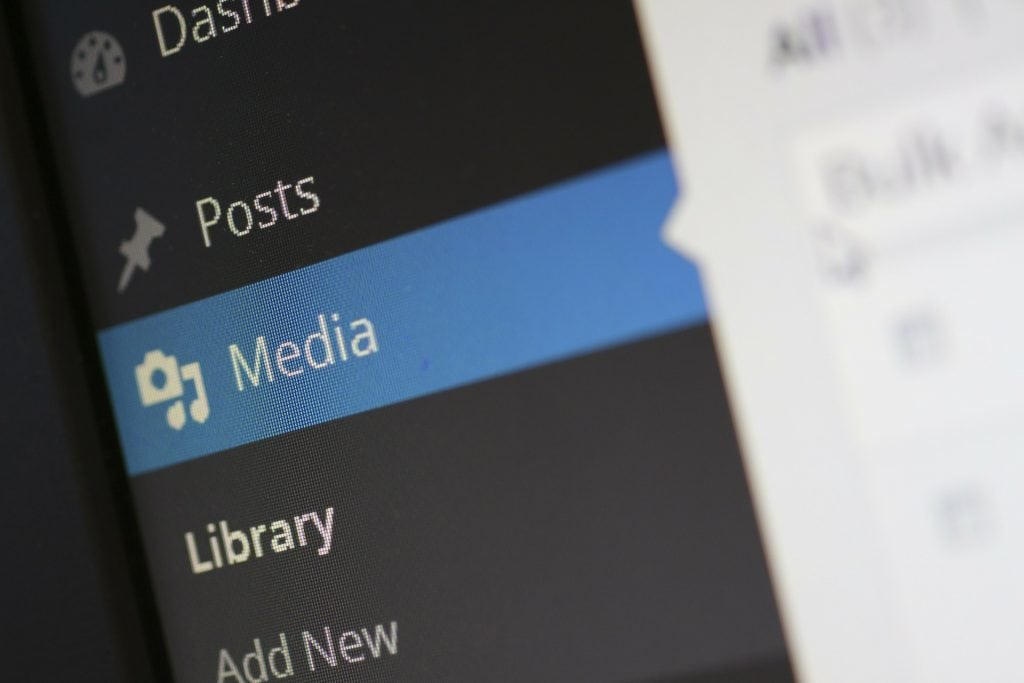 Media tab WordPress