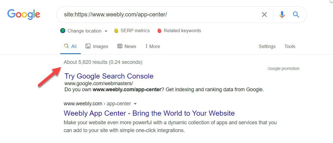 Weebly app center Google search