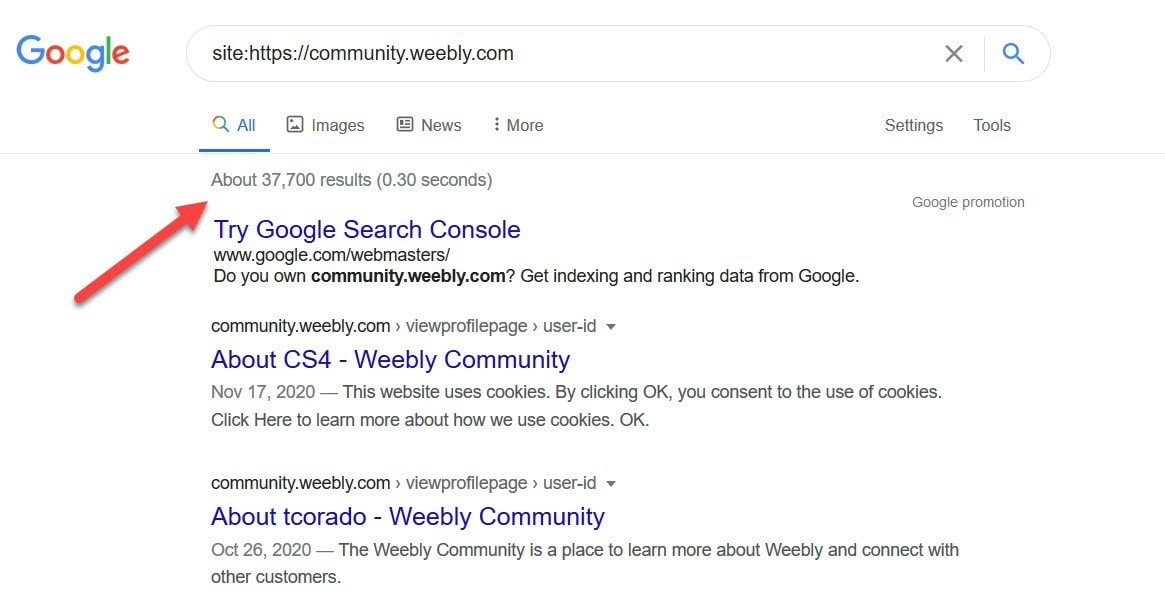Weebly community forums Google search
