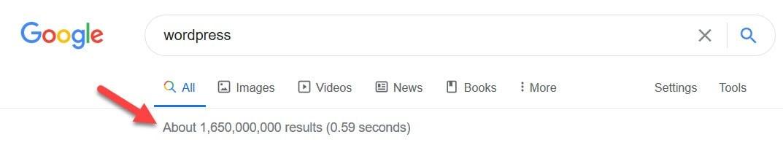 WordPress Google search