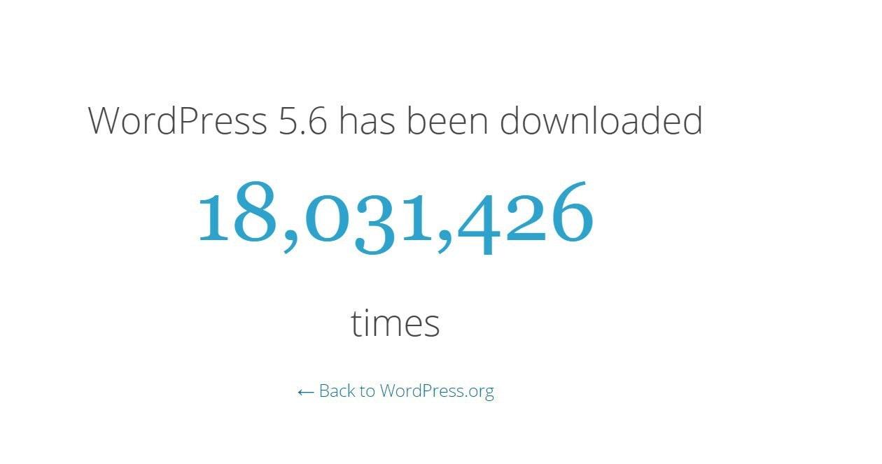WordPress number of downloads
