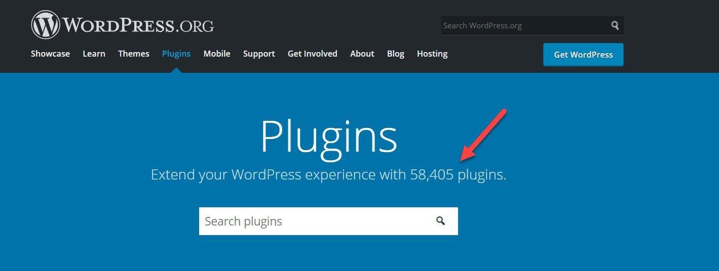 WordPress.org plugins tab