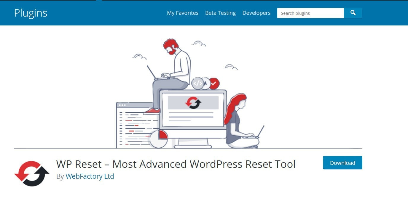 WP Reset plugin