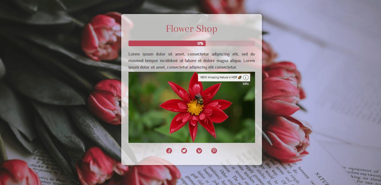 Coming Soon & Maintenance Mode plugin Flower Shop theme