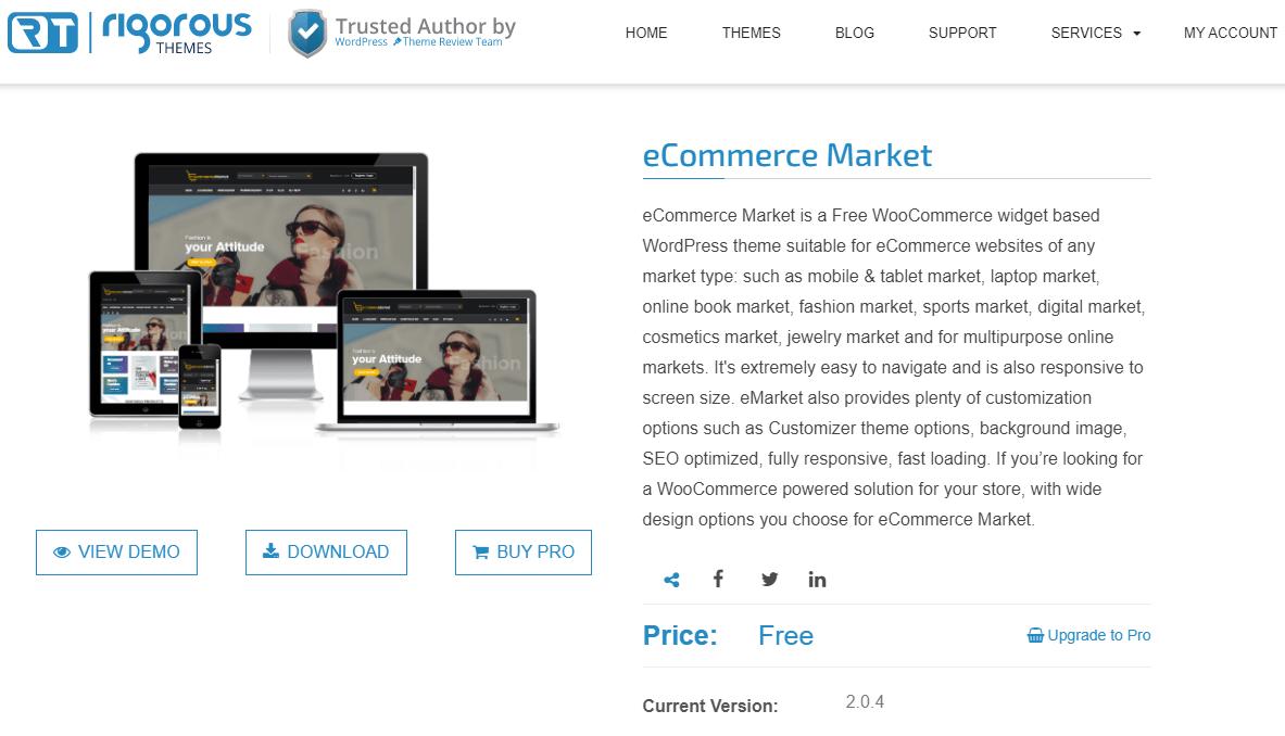 eCommerce Market theme