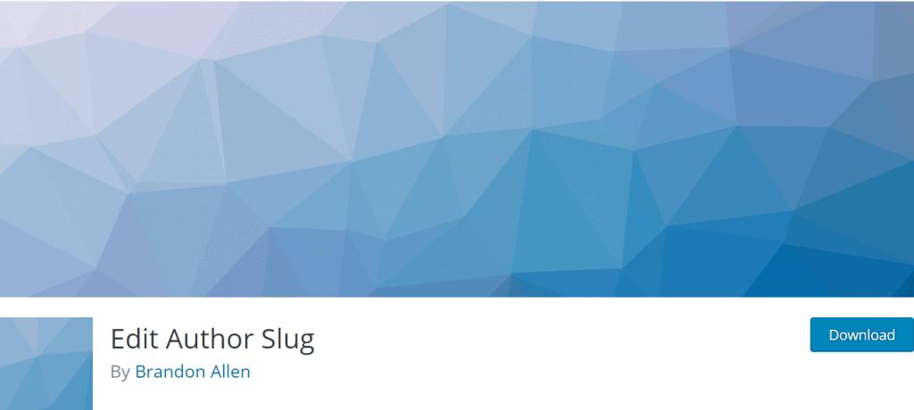 Edit Author Slug banner