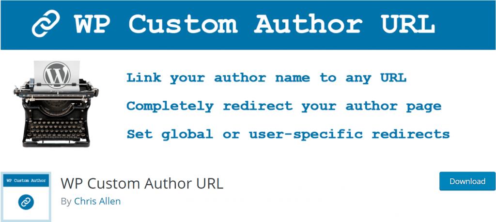 WP Custom Author URL banner