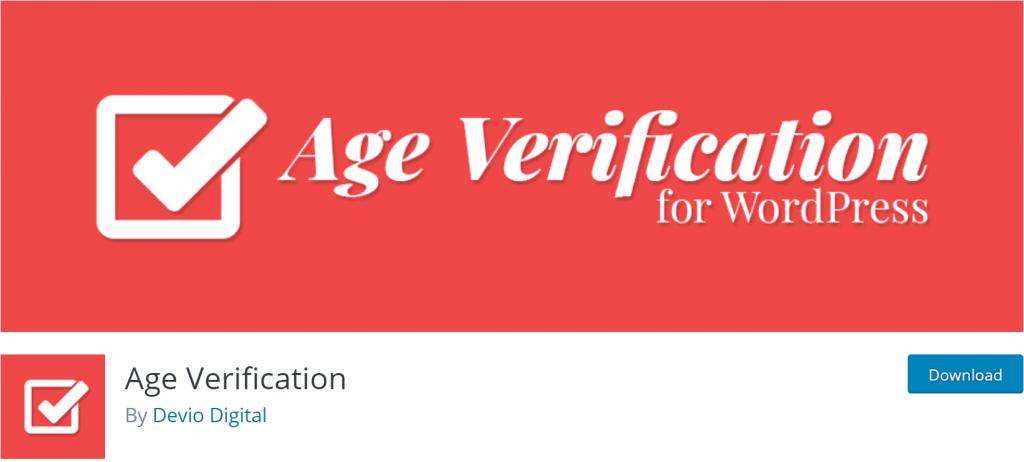 Age Verification banner