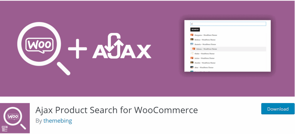 Ajax product Search for WooCommerce banner