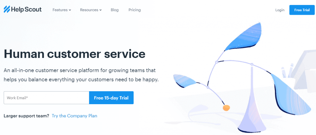 Help Scout homepage