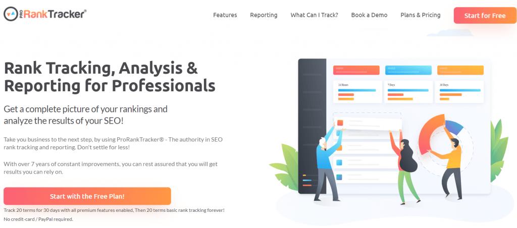 Pro Rank Tracker homepage