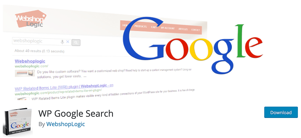 WP Google Search banner