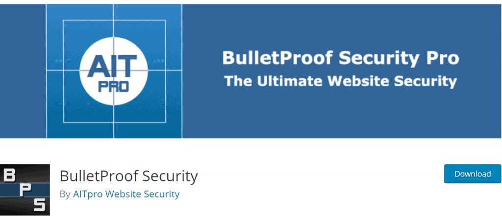 BulletProof Security banner