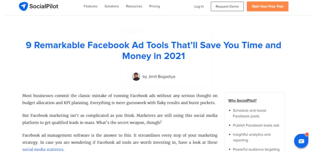 SocialPilot article
