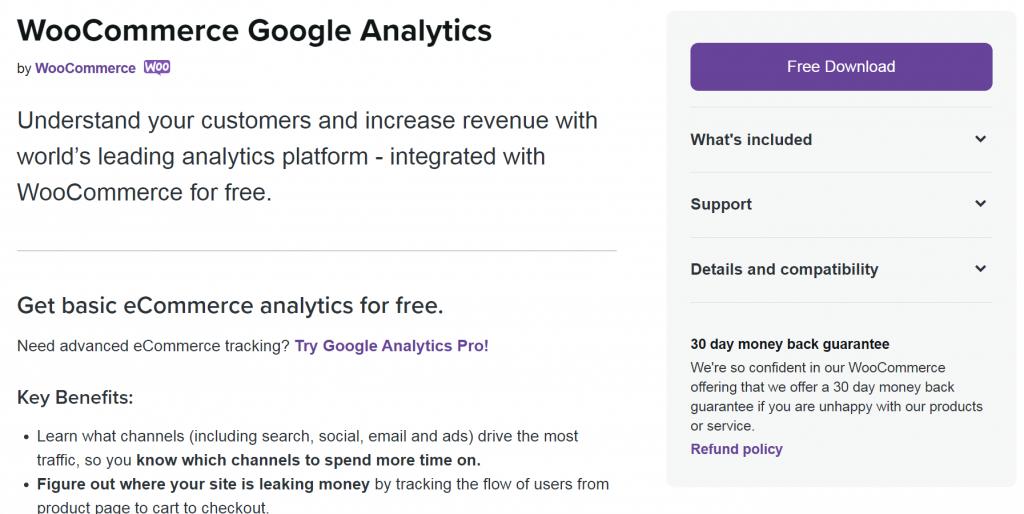 WooCommerce Google Analytics website