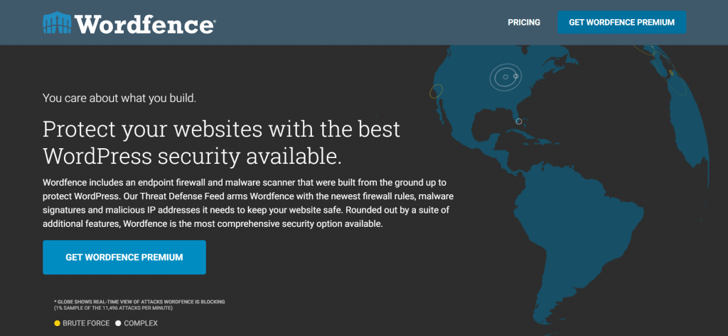 Wordfence homepage