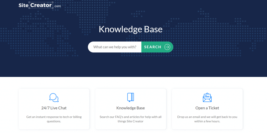 Site Creator Support
