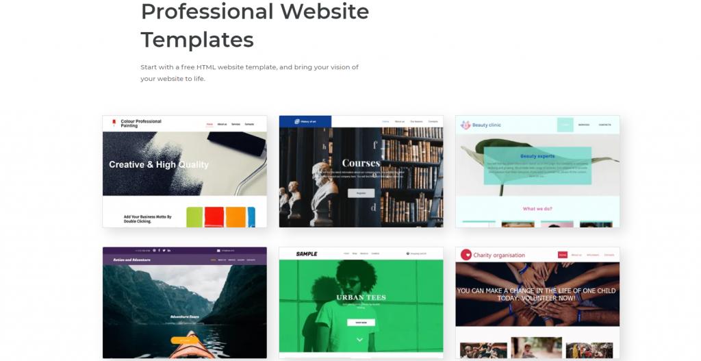 Site Creator templates